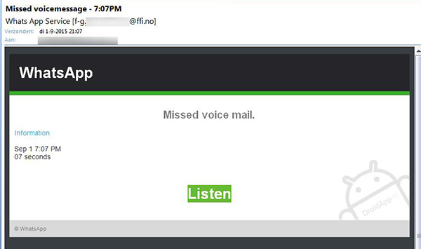 Missed Voicemail